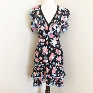 Anthropologie Foxiedox floral layered ruffle dress